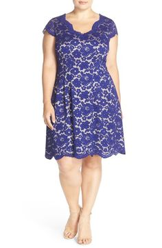 Vince Camuto Lace Fit & Flare Dress (Plus Size) available at #Nordstrom