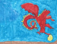 """""""Dragon with Jewel of Peace"""" by Matt, age 5.11"""