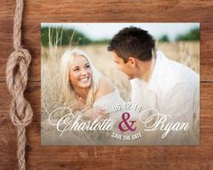 You and Me Photo Save-the-Date Postcard by studiofortydesign Klein Tool Bag, Save The Date Postcards, You And I, Announcement, My Photos, Dating, Weddings, Engagement, Handmade Gifts