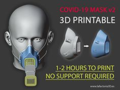 MASK (Fast print, no support, filter required) by Reading Websites For Kids, Fast Print, 3d Printing Diy, 3d Printer Designs, 3d Cnc, 3d Prints, Filters, Digital, Dremel Router