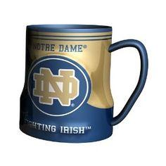 934c39fdc74 Amazon.com : NCAA Notre Dame Fighting Irish Sculpted Game Time Coffee Mug,  18
