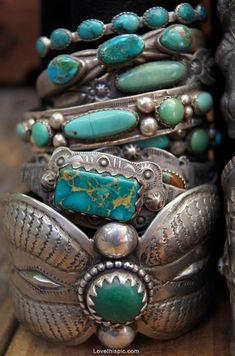 Turquoise jewelry cuffs bracelets