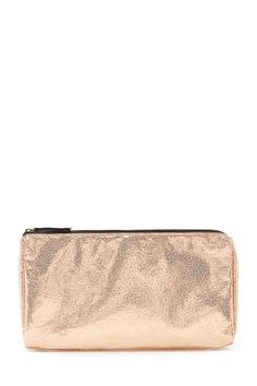 Crackled Metallic Makeup Bag