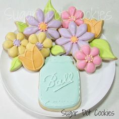 Mason jar flower sugar cookies