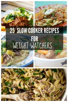 25 Slow Cooker Recipes for Weight Watcher's | recipe-diaries.com