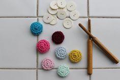 DIY Crochet buttons, in Danish