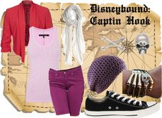 """""""Disneybound Captain Hook"""" by usachii on Polyvore"""