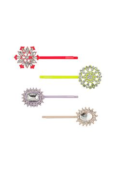 Fun jeweled bobby pins for spring