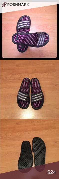 "Addidas slide. NWOT Adidas ""comfort massage"" slides. Sz. 7, but it fits Sz.8. Brand new. No box. adidas Shoes Sandals"
