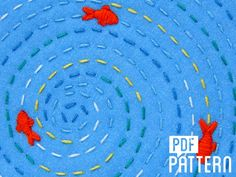 Relaxing Fish Pond Embroidery Pattern from Oh Sew Bootiful | Textillia.com