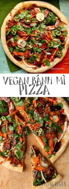 The perfect fusion: Bánh mì and Pizza come together to create this vegan Bánh mì Pizza. Click the picture for the full recipe.