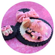 MINNIE MOUSE BABY Shower Cake Topper Minnie by EdibleSugarArt