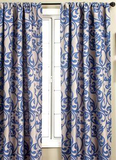 Kunas+Cobalt.  Curtains? Roman shade? I like the pattern.