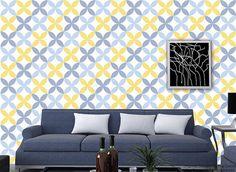 Removable Wallpaper - Nagoya Allover Wallpaper -DIY Wall Decors Custom Colors Vinyl or Fabric Peel and Sticker  Wallpapers prt0043