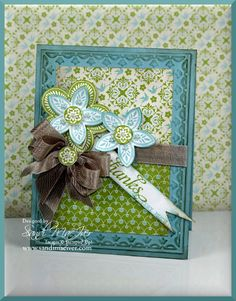Triple Treat Flower Stamp from Stampin Up by SandiMac - Cards and Paper Crafts at Splitcoaststampers