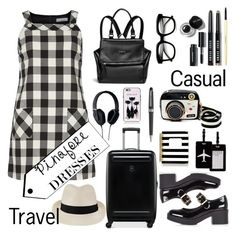 """""""Casual Travel"""" by ornellav ❤ liked on Polyvore featuring Pryma, Dorothy Perkins, Melissa Odabash, Victorinox Swiss Army, River Island, Betsey Johnson, Bobbi Brown Cosmetics, TravelSmith, Givenchy and ZeroUV"""