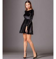 Mini Velvet Dress with Scooped Back and Full Skirt - Black Photography Words, Fashion Photography, Velvet, Formal Dresses, Mini, Skirts, Black, Dresses For Formal, Skirt