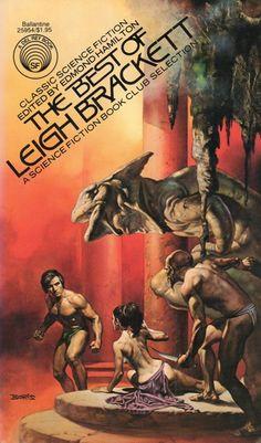 BORIS VALLEJO - Cover art for The Best of Leigh Bracket - Edited by Edmond Hamilton (husband) - 1977 Ballantine paperback