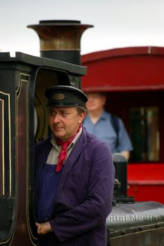 Driver and Fenchurch, the Blubell Railway's oldest locomotive.