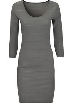 Vestido de tricô cinza mesclado encomendar agora na loja on-line bonprix.de  R$ 59,90 a partir de Com linda padronagem de tricô e decote redondo profundo. ...