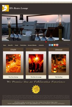 Web Design India, India Website, Portfolio Website, Fine Dining, Rooftop, How To Become, Rooftops