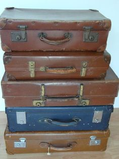FIVE 1930's SUITCASES For Sale in Holywell, Flintshire
