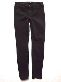 J Brand size 30 Skinny 811 Eyelet leg Vanity black Mid rise waist Womens jeans #JBrand #SlimSkinny