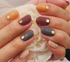 Nail Art You'll Love Forget cheesy turkey designs—this Thanksgiving nail art is chic and stylish as all get-out.Forget cheesy turkey designs—this Thanksgiving nail art is chic and stylish as all get-out. Autumn Nails, Fall Nail Art, Fall Nail Colors, Thanksgiving Nail Designs, Thanksgiving Nails, November Nails, Nails 2018, Pretty Nail Art, Fall Nail Designs