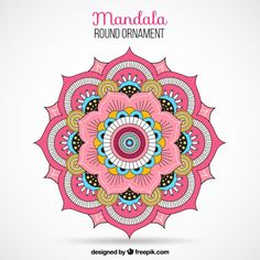 Mandala Vectors, Photos and PSD files Abstract Pattern, Stencil Painting, Mandala Coloring, Mandala, Vector Free, Coloring Books, Art, Color, Pattern Art