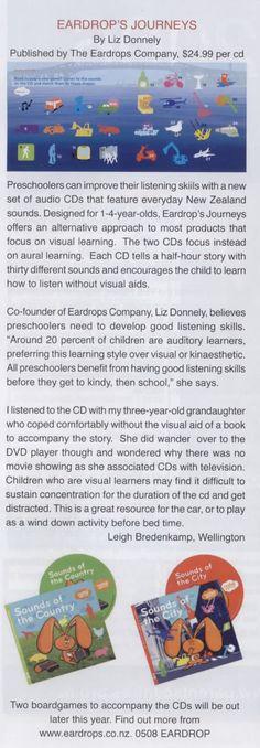 Eardrops in KiwiParent Magazine