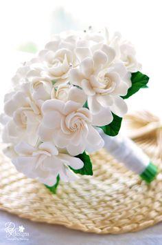 DK Designs - all gardenia wedding bouquet.