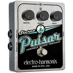 Electro-Harmonix Stereo Pulsar Variable Shape Analog Tremolo Guitar Effects Pedal