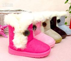 Toddler Boots Tall Furry Jet Black Boots for Winter by ...
