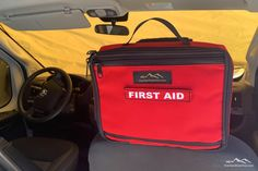 First Aid Kit Headrest Pouch - Vehicle First Aid Kit by Overland Gear Guy Overland Gear, North Salt Lake, First Aid Supplies, Cargo Net, Car Storage, Trash Bag, First Aid Kit, Jansport Backpack, Cubbies