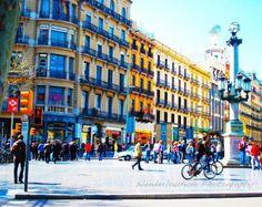 Boulevard de Barcelone Espagne, photo 8 x 10