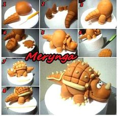 Dinosaur cake Tutorial | children's cake ideas | Pinterest