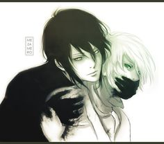 here we hace a cute anime guy caught by the black buttler demon, sebastain.