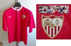Maglia Calcio Siviglia '92 Bukta Football Shirt Chaqueta Maradona Vintage