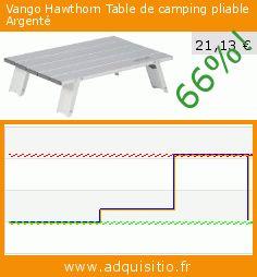 Vango Hawthorn Table de camping pliable Argenté (Sport). Réduction de 66%! Prix actuel 21,13 €, l'ancien prix était de 62,00 €. https://www.adquisitio.fr/vango/hawthorn-table-camping