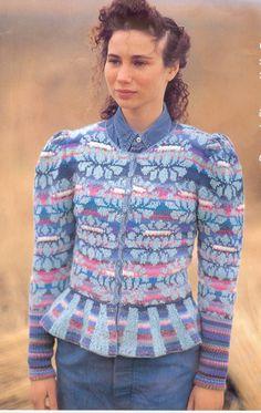 Kaffe Fassett Blue Damask Flower Jacket