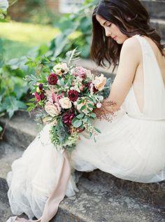 Colorful wild summer bouquet: http://www.stylemepretty.com/2015/09/16/rustic-elegant-tuckahoe-plantation-wedding-inspiration/ | Photography: Kate Ignatowski - http://www.kateignatowski.com/: