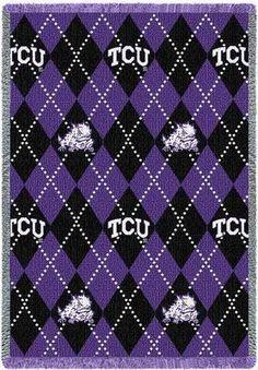 Texas Christian University Plaid Stadium Blanket   I want this