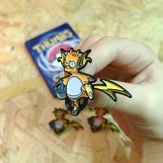 Les badges Pokémon x Simpson