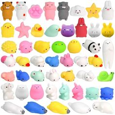 Mochi Squishy Toys Mochi Animal Squishies Toys Squeeze Kawaii Squishy Cat Stress Reliever Anxiety Toys Panda Rabbit Cat Unicorn Mini Squishy Christmas Gifts for Kids & Adult, Random. 36 x Squeeze Toy. Animal Squishies, Cute Squishies, Toys For Girls, Gifts For Boys, Kids Toys, Stress Toys, Stress Relief Toys, Figet Toys, Cool Fidget Toys