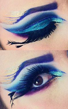 peacock inspired eye makeup. ashleyswagner.tumblr.com youtube.com/missashwag