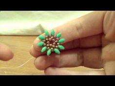 ▶ TUTORIAL ORECCHINI GIRASOLE SUPERDUO(Tutorial earrings sunflower) - YouTube