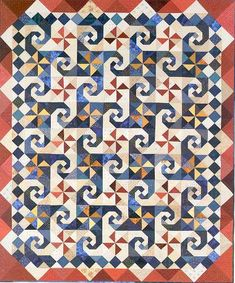 snail's trail quilt pattern | Take Time to Quilt - book of quilt patterns from Time To Quilt