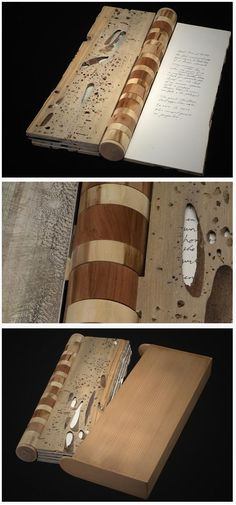Gorgeous engraved wooden book