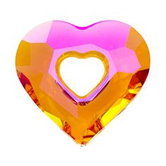 Swarovski Crystal Astral Pink Miss U Heart - a fusionbeads.com product that I love