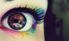 Bright Multicolor/Rainbow Eye Makeup-Above + Below Eye